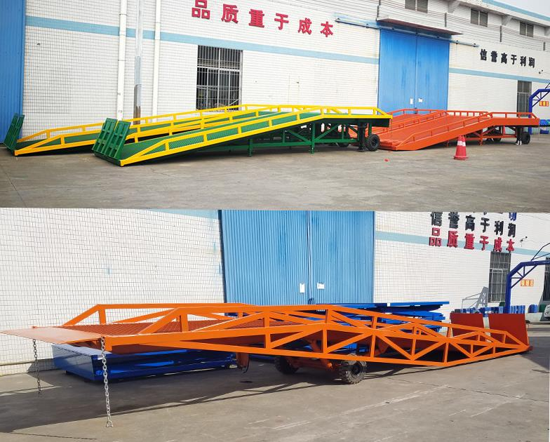 Electric Dock Leveller Cargo Stationary Dock Ramp