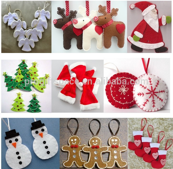 Holiday party decor polyester felt Merry Christmas home stand giant craft artificial gift ornament star outdoor decorations tree