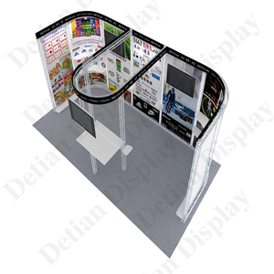 Detian offer 10x20 aluminum truss display stand trade show flooring exhibition stall