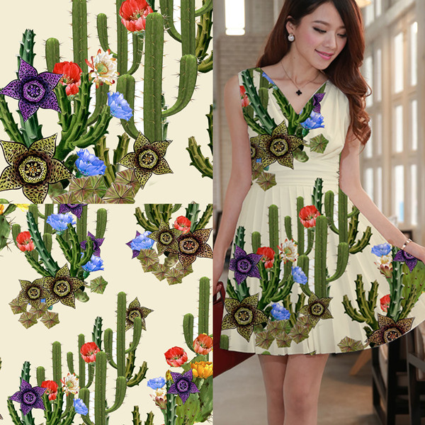 Digital Textile Printing Services On The Cotton Fabric As Custom
