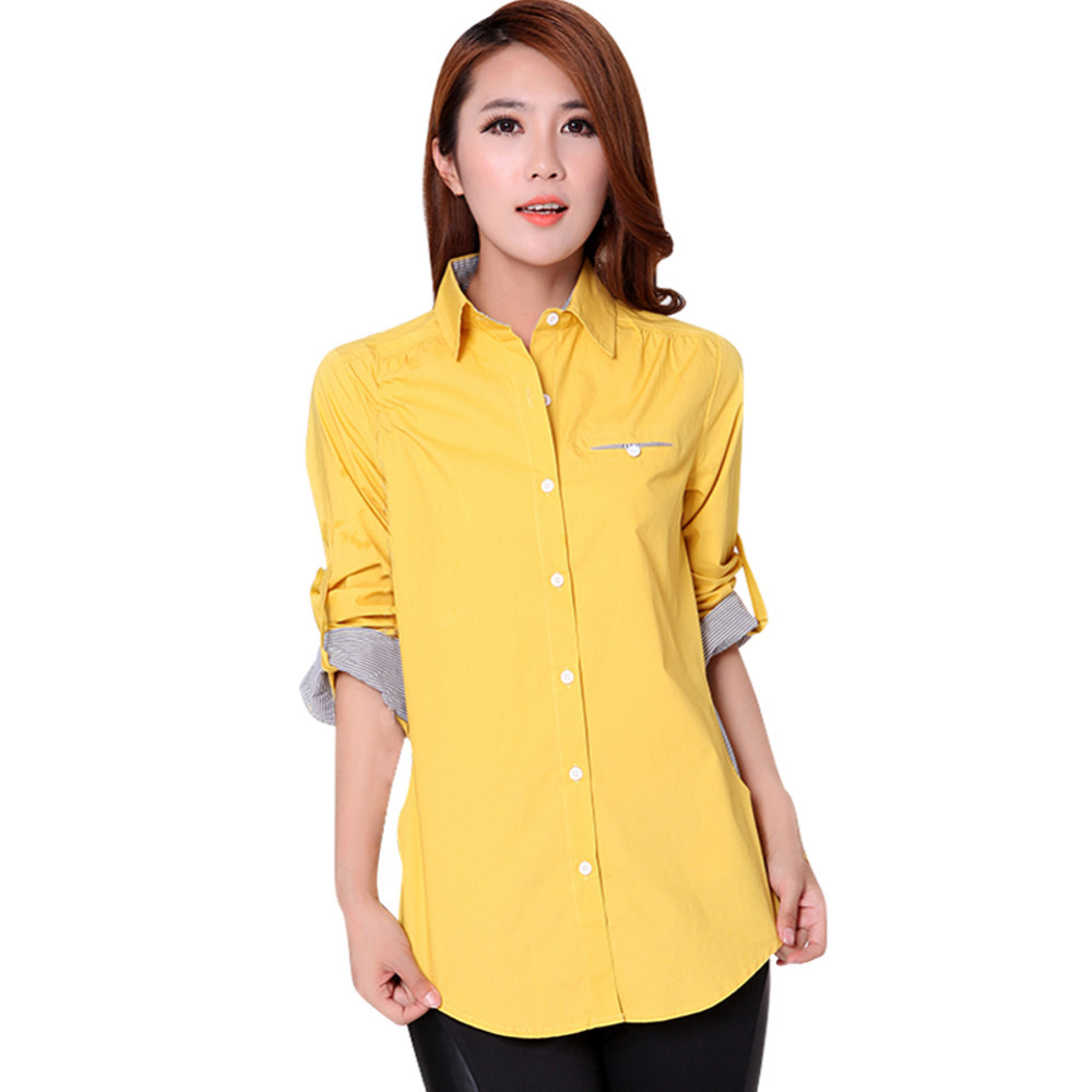 cb3b46b3f6c Hot Sale Casual Design Woman Tops 2015 Noble Women Cotton White Shirt Size  S-3XL