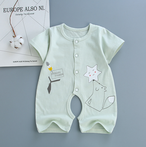 Baby jumpsuit Spring and autumn warm newborn pure cotton jumpsuit Baby long sleeve climbing suit baby all cotton clothes