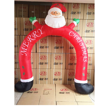 giant outdoor inflatable christmas decoration arch snowman advertising