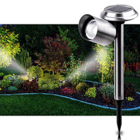Outdoor garden lighting line led dark sensor light for garden/outdoor/pathway/walkway solar spot light