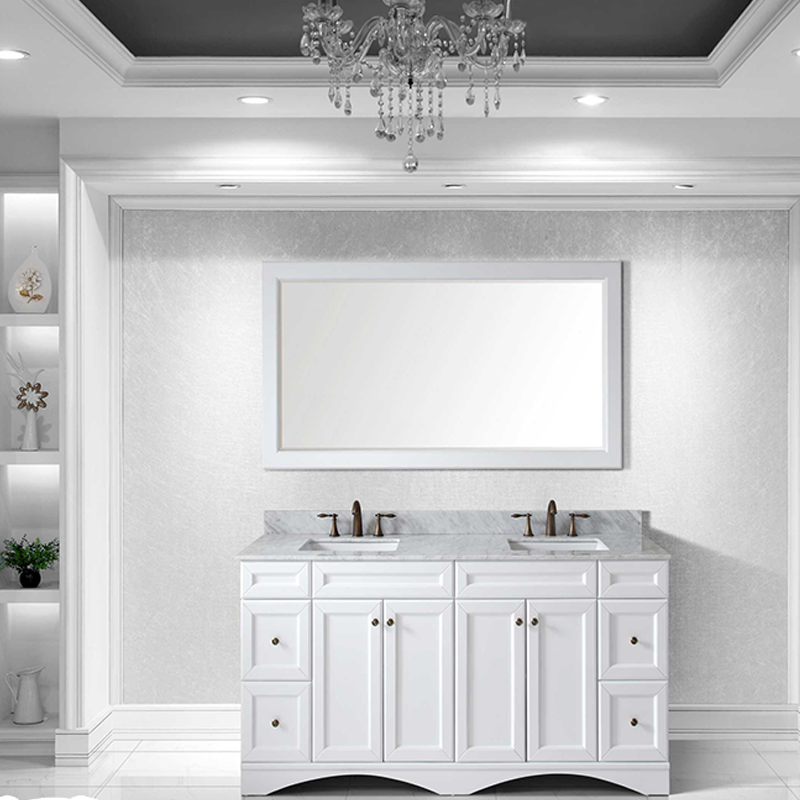 new fashional hotel classic bathroom cabinet with mirror using