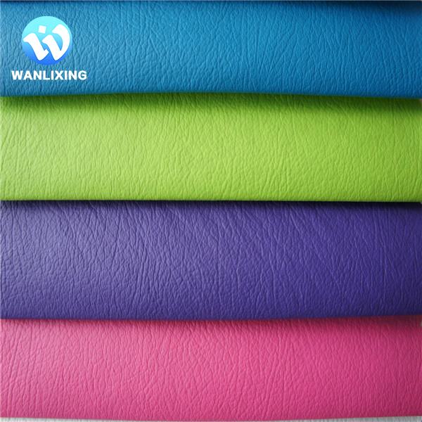 PVC Artificial Leather Fabric For Sofa Curtain,Colorful Leather Sofa Curtain Cover Material