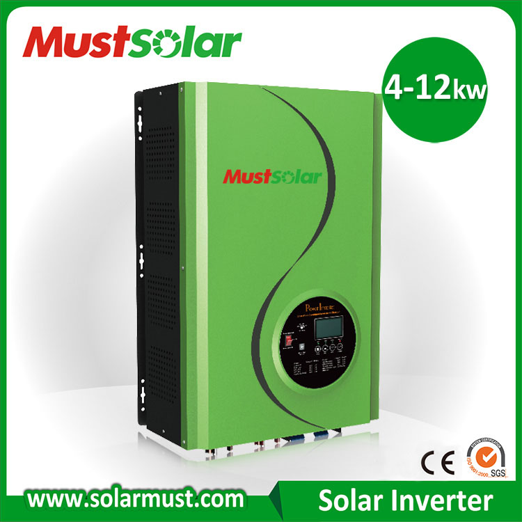 Must brand 48v MPPT 6kw hybrid solar inverter Single Output Type and 1 - 200KW Output Power Pure sine wave motor Inverter