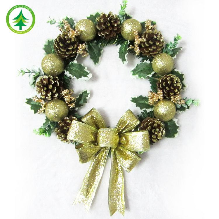 gravepots holly poinsettia wreath wreaths decor artificial christmas decorated and