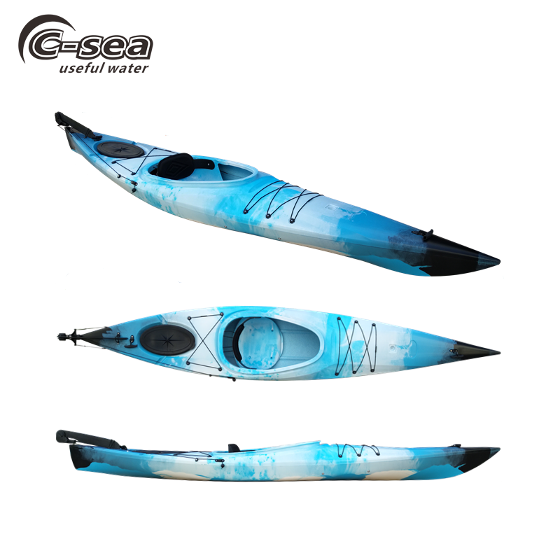 Sit in rotomold expedition mare kajak singolo oceano di plastica touring kayak