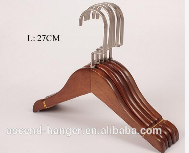 24cm cheap small short wooden clothes hanger cherry for baby kid children OEM