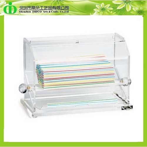 DDQ-S010 Trade Assurance Clear Acrylic Straw Dispenser
