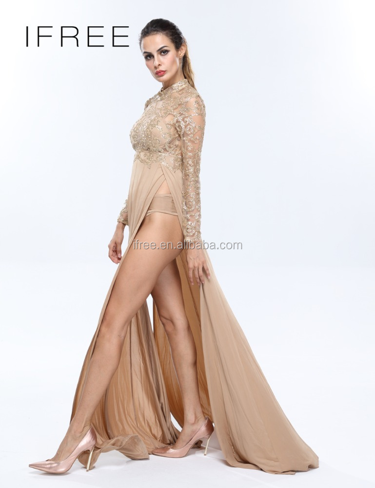 Сексуальные вечерние платья с длинным рукавом
