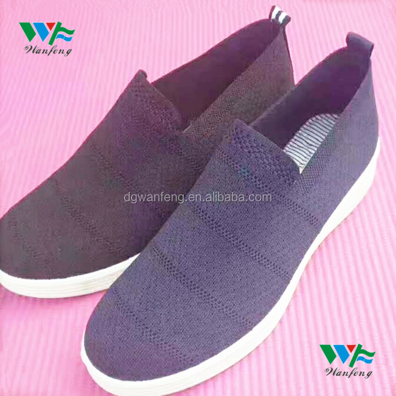 New Style Fly knit shoe uppers/seamlessly cotton knitted uppers