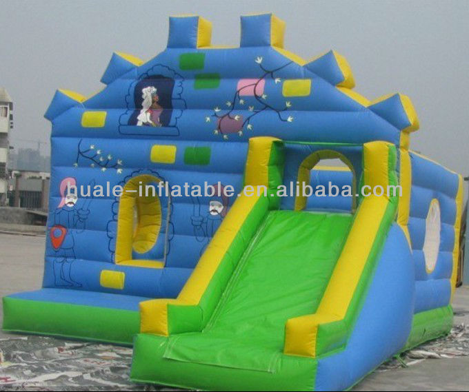 King inflatable castle with slide