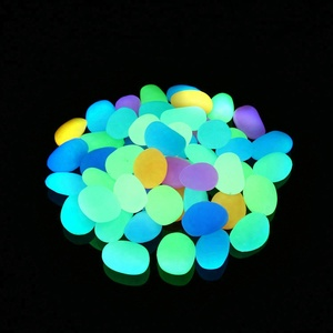 Multi Color Glow in the Dark Pebbles for Garden Walkway, Fish Tank, Flowerpot, Swimming Pool