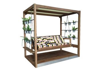 Mfivio Design Futon Swing Bed
