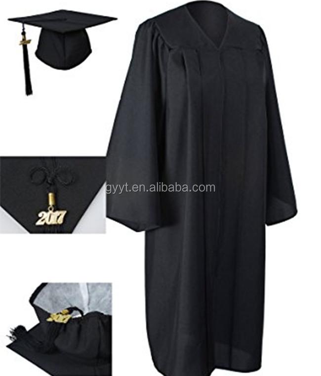 Academic 2017 Graduation Gown Tassels for Graduate Ceremony Black