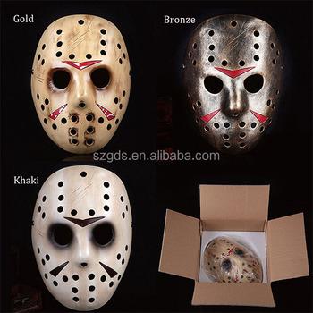 Halloween Jason.Factory High Quality Halloween Resin Killer Jason Hockey Mask Freddy Vs Jason Resin Mask Halloween Decoration And Gift Life Size Buy Jason Mask