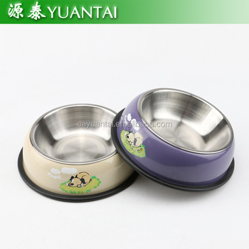 hot sale nice design colorful stainless steel pet bowl dog bowl cat bowl
