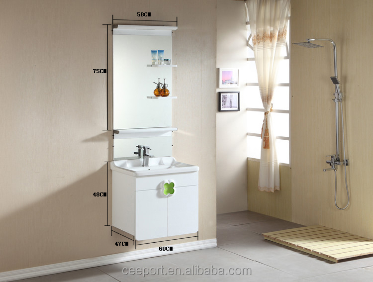 High quality modern wall-mounted bathroom cabinet with LED lights 1035