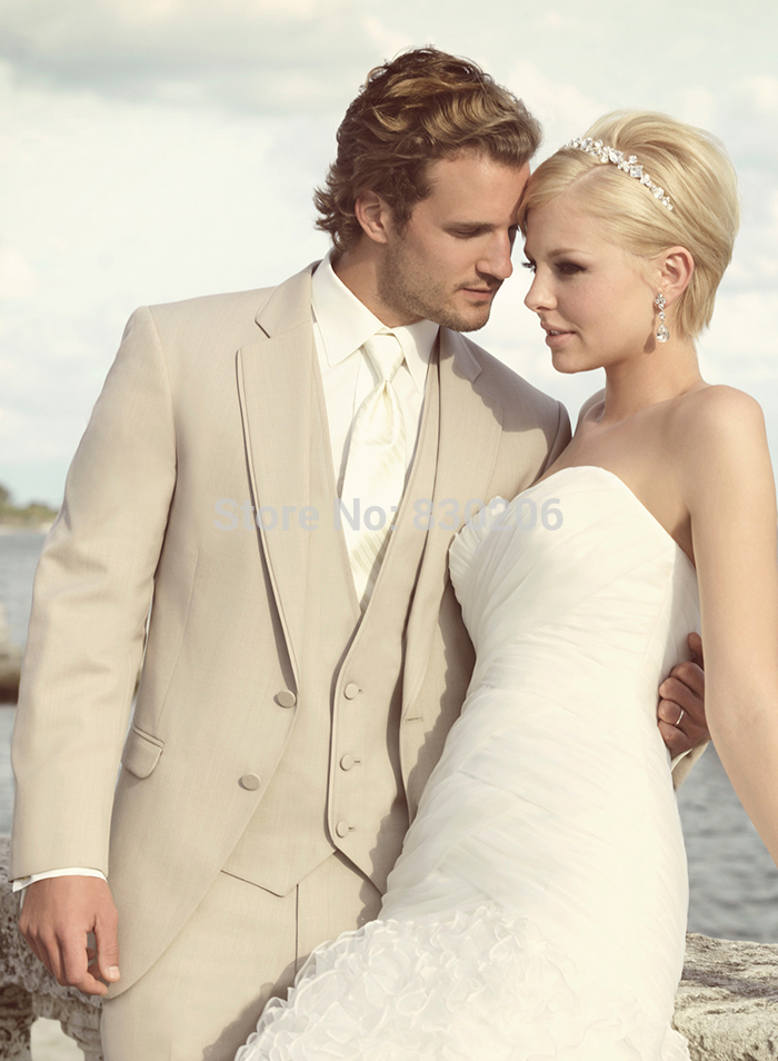 achetez en gros costume de mariage beige en ligne des grossistes costume de mariage beige. Black Bedroom Furniture Sets. Home Design Ideas