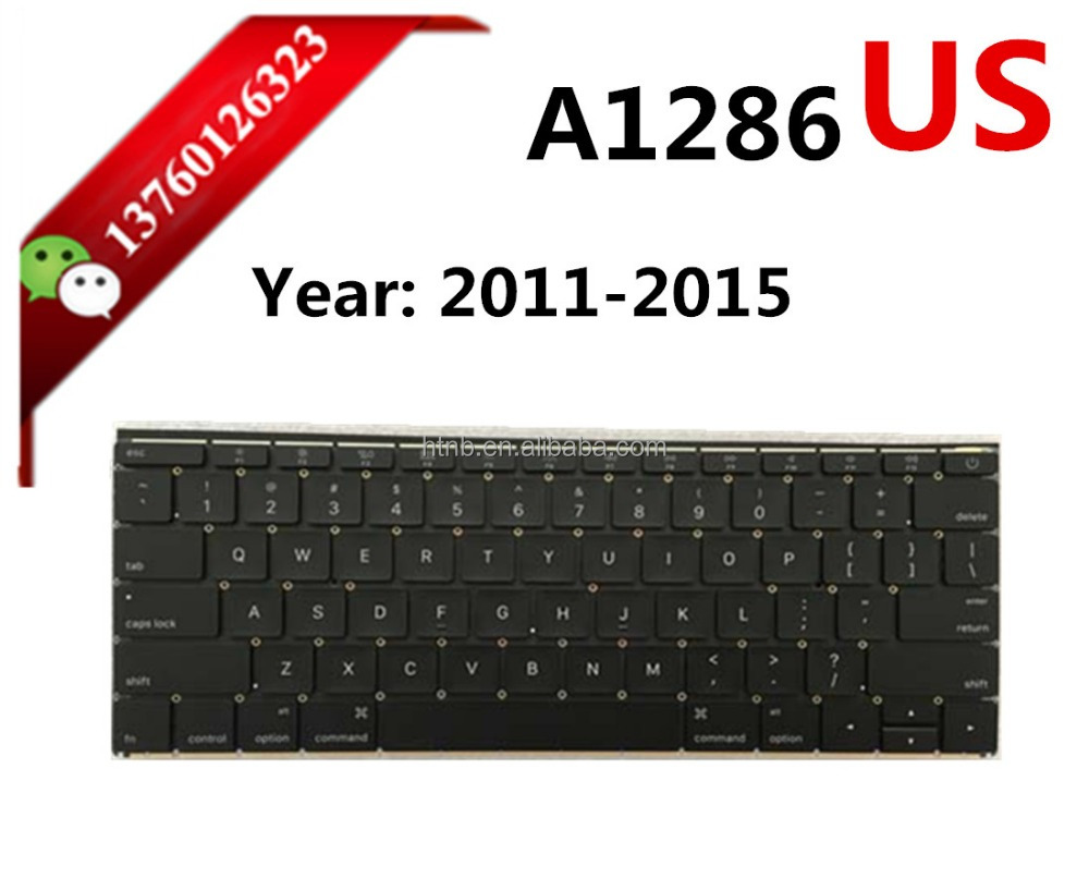 Brand New A1286 Keyboard 2009-2015 for Macbook Pro Unibody 15-inch SP Version Replacement A1286 Keyboard