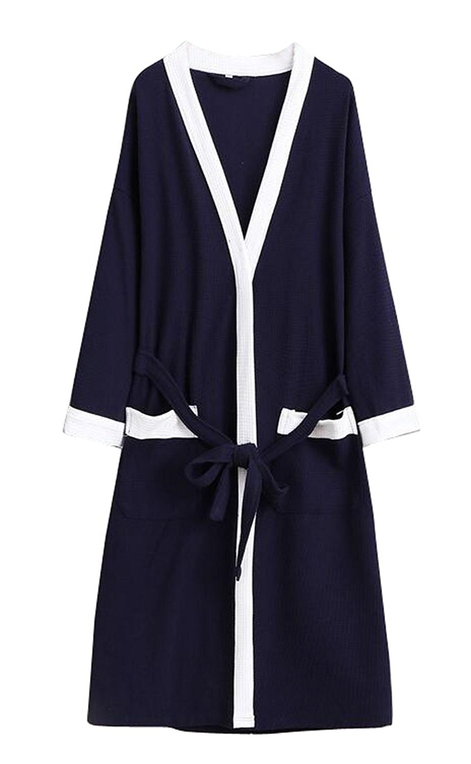 a45c89dae1 Get Quotations · ARTFFEL-Men Basic Waffle Kimono Robes Lightweight Terry  Cloth Spa Bathrobe