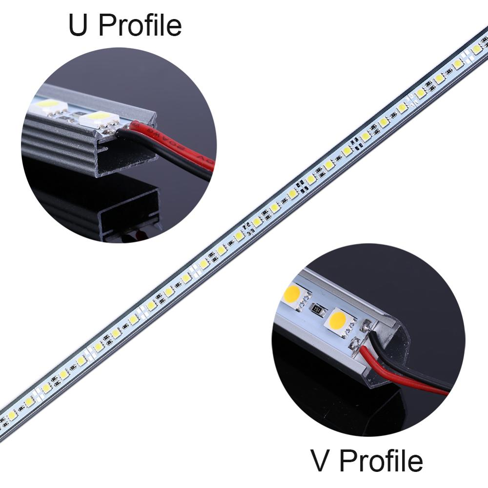 U-Shape Aluminum 3.28ft 72pcs 5050 LED Rigid Strip for Under Cabinet Light
