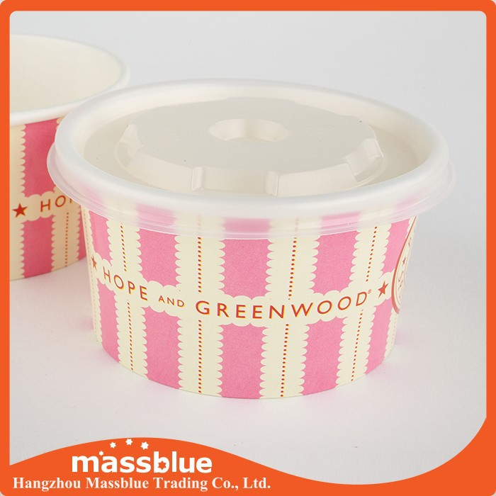 16oz Printed ice cream paper bowls,customized paper bowls
