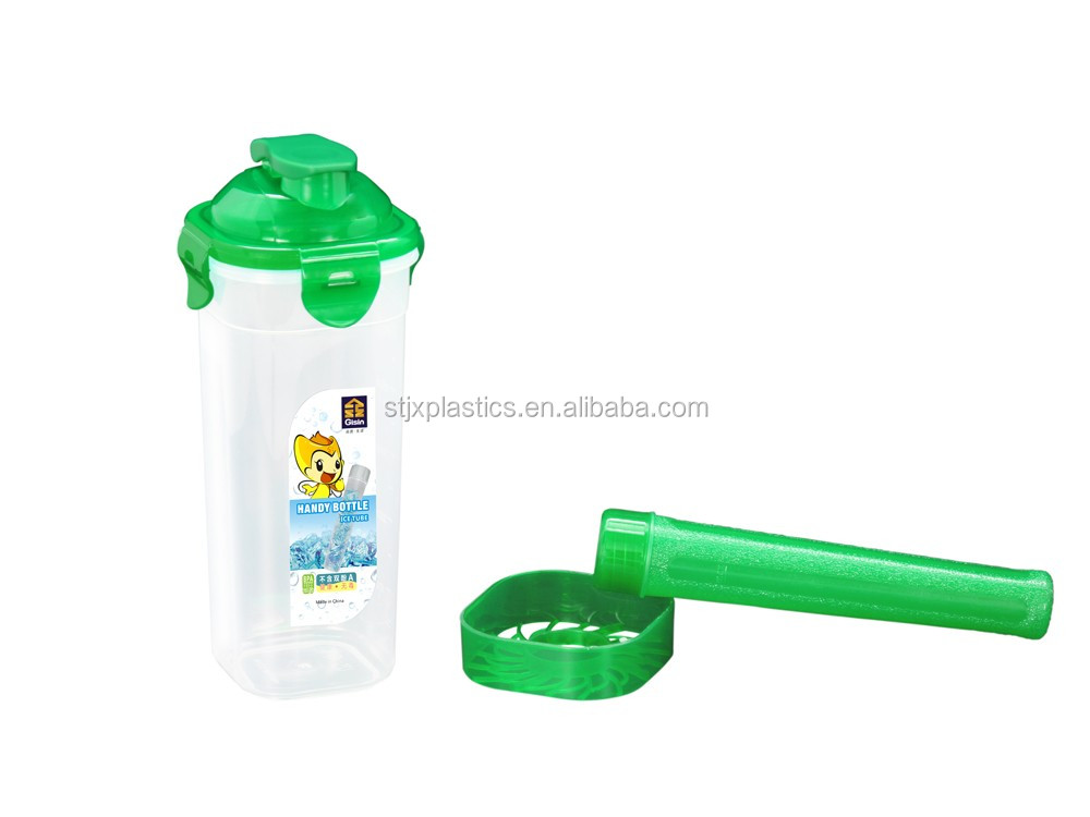 400ml Promotional Plastic Sport Drinking Bottle with ice stick