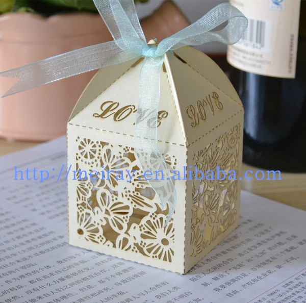 china wholesale wedding favor lace flower laser cut With wedding invitation box type
