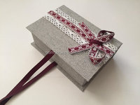 cardboard high quality decorative linen paper gift box