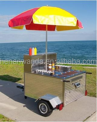 WANDA high quality factory price mobile food cart