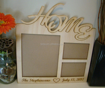 Large Custom Engraved Collage Wood Picture Photo Frame
