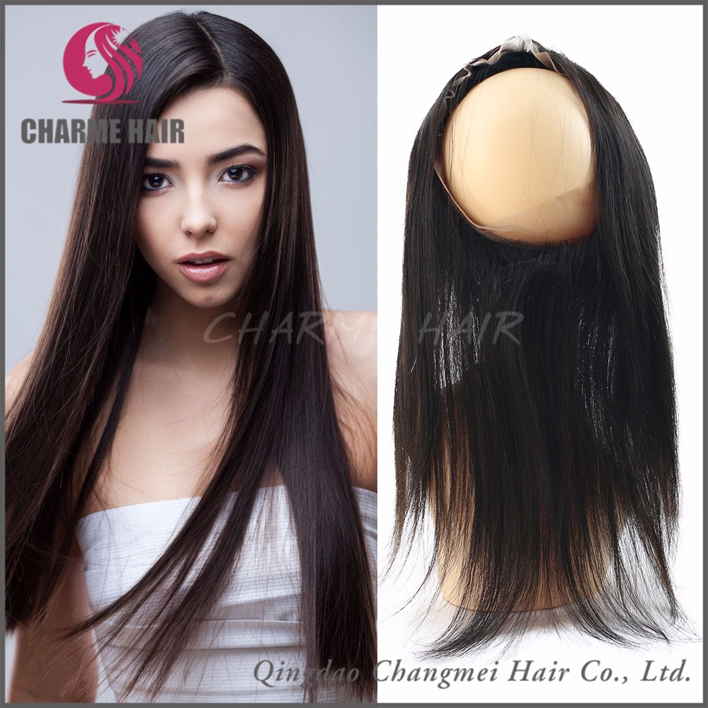 Wholesale merchant preferred product 360 lace frontal wig baby hair closure