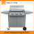 3 branders gas grill bbq, roestvrij staal tafelblad gas grill