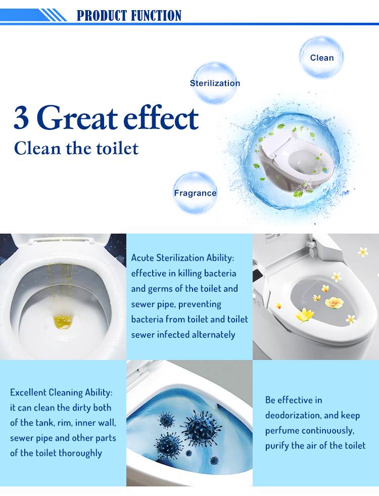 Rayshine antibacterial toilet seat cleaner with Strong antibacterial effective
