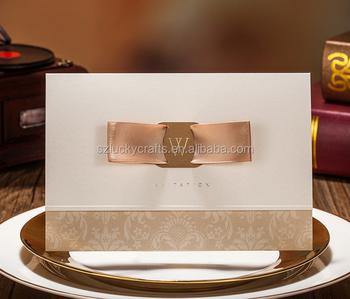 2016 Hot Handmade Customized Indian Wedding Invitation Card New