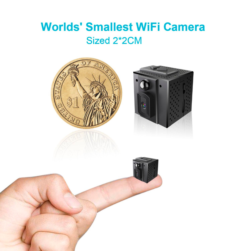 2018 New Product World Smallest Hidden Video Camera 2*2 cm Wireless Security Camera 960P Night Vision Wifi CCTV Camera Recording