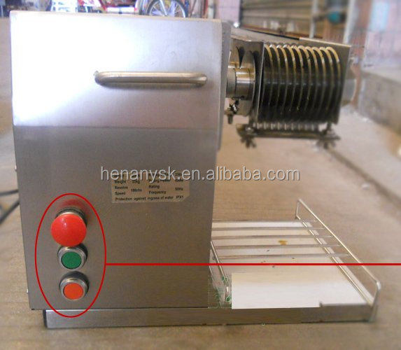 QX250 2017 Stainless Steel Meat Pork Lamb Slicer Slicing Machine