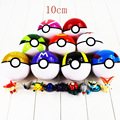 10cm NEW 9 colors available Japan Anime Pokeball Toys Poke Ball With Fairy Animals PVC Action