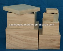 New designed unfinished bulk wooden packing crates with lids