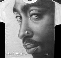 Tupac Airbrushed Hip Hop T-shirt