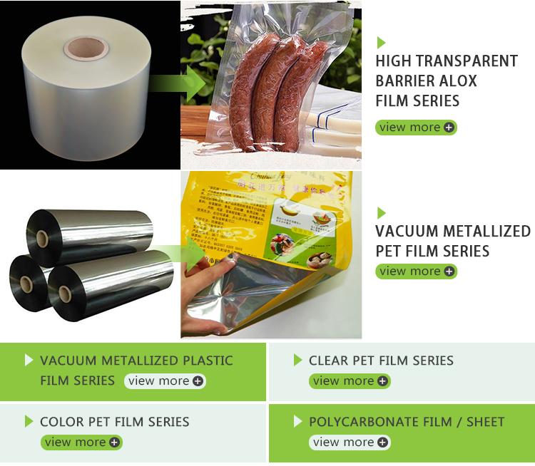 O filme Super Clear VMPET é um filme MPET de alto brilho e alta transparência com 12 microns para decoração ou embalagem de produtos alimentícios