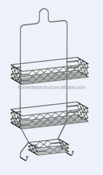 Bathroom Shelves Shower Caddy And Teak Tension Pole Caddy