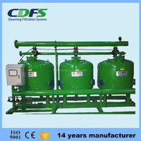 Automatic backwash media/gravel filter aquaculture water filter