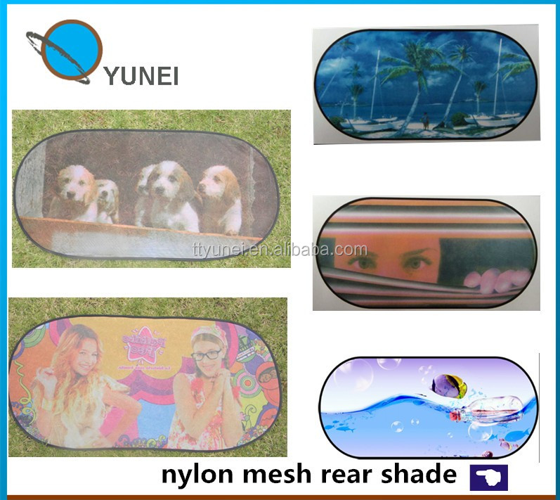 Hot sale nylon 170T polyester silver coating uv protect car shade