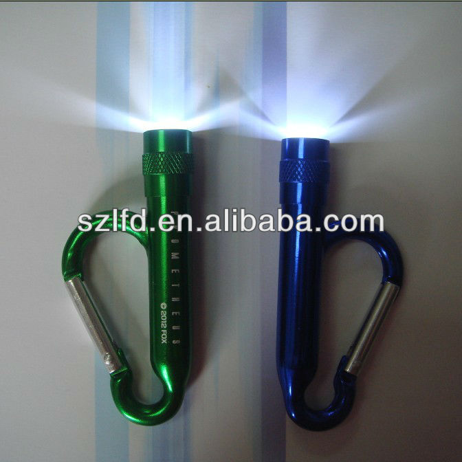 Hot selling Novelty top quality promotional climbing aluminium led carabiner for climbing