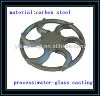 transmission wheel precision casting steel casting investment casting train parts steel foundry in China