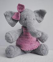 Handmade Pink Ribbon Elephant knitting Pattern Toys For Elephant Knit